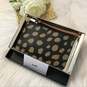 COACH Boxed Small Wristlet with Deer Spot Print